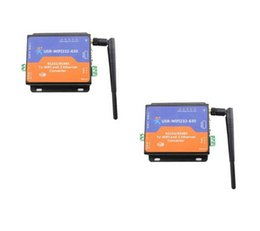 Wholesale Port Rs 232 - 2 Piece USR Serial Rs 232 Rs485 to WIFI and Ethernet Server Converter, 2 TCP IP Port Q13433-2