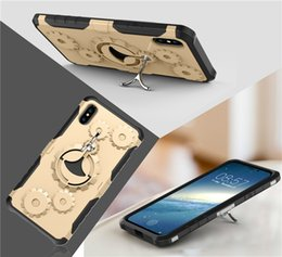Wholesale Wholesale Plastic Wheel Cover - Aokin Wheel 2 in1 Cases for iPhone 8 Case iPhone7 plus X 6 6s Optional Armlet Soft TPU Edge Hard PC Back Cover