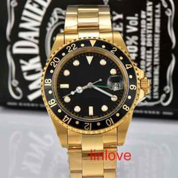 Wholesale Geneva Watch Fashion Gold - Luxury Brand New Automatic Mechanical Role Wrist Geneva Watch Stainless Steel Mens Folding Buckle Watches Men Fashion Wristwatches