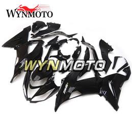 Wholesale Gloss Black Kawasaki Zx6r Fairings - Gloss Black Full Fairings for Kawasaki ZX-6R ZX6R 2013 - 2016 13 14 15 16 Plastics Injection Motorcycle Fairing Kit ABS Bodywork Covers