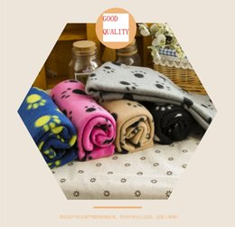 Wholesale Fleece Animal Throw - 2017 the latest dog bone style Paw Prints Pet Puppy Dog Cat Fleece Blanket soft and warm blanket available on both sides