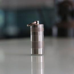 Wholesale Titanium Pill Case - Titanium EDC Waterproof Storage Case Capsule Titanium Outdoor Capsule Pill Box