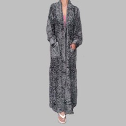 Wholesale Velvet Nightgowns - Wholesale- Free Shipping 2017 New Arrival Fashion Home Thermal Long Design laciness Robe With lace Soft Velvet Thick Nightgown Bath Clothes