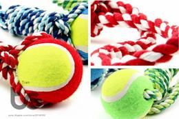 Tennis Pet Dog Toy morsure et mâcher du coton à la main plomb coton Knot corde chien molaires à mâcher balle jouets ? partir de fabricateur