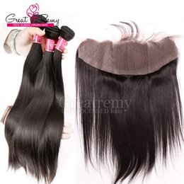 Wholesale Weft Hair For Sale - Drop Shipping Malaysian Straight Lace Closure Hair Piece 4*13 Ear to Ear Lace Frontal Human Hair Extensions for Mother's Day Hot Sale