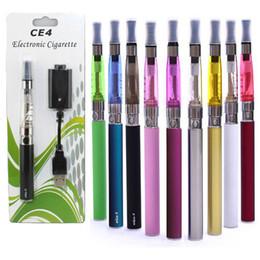 Wholesale E Cig Kit Blister Pack - CE4 Electronic Cigarette Blister kits CE4 ego starter kit e cig hot selling ce4 atomizer 650mah 900mah 100mah battery in Blister pack DHL