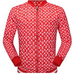 Wholesale Designer Long Jackets - Hot sale high quality fashion Designer tide brand Small floral print Men's jackets fashion and casual jacket for men