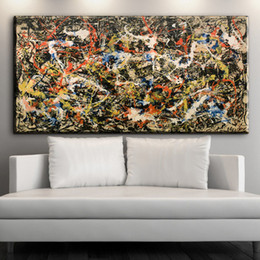 Wholesale One Leaf - 2016 nummer 5 1948 Jackson Pollock Mural image leaf 70x90 cm Home Decorative Art Paint on canvas