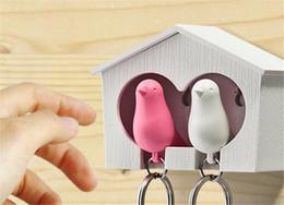 2019 cuscino dell'orso polare Love birds Birdhouse Portachiavi DUO Passero uccello Portachiavi Due Uccelli Novità Home Decoration valentines