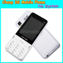 Wholesale Cell Phone Gsm Unlocked Sim - Cheapest Mobile phone H-mobile T2 2.8 inch No System 2G GSM Unlocked Quad Band Back Camera Cell Phone with Flashlight Free Shipping