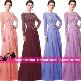 Wholesale Elie Saab Long Sweetheart Dress - 2016 Elie Saab Style Long Prom Dresses with Sweetheart Sheer Crew Neck Beaded Pearls Arabic Luxury Couture Evening Gowns for Women Sale Wear