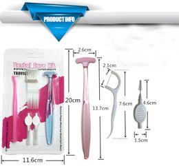 Chegam novas Cuidados Pessoais Higiene Oral escova de dentes + Palitos de Dentes Branqueamento Kit de Limpeza Dos Dentes de Limpeza Dental frete grátis de