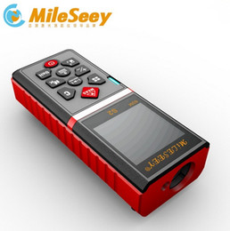 Wholesale Bubble Level Tool - Wholesale-S2 40m Mileseey Laser Rangefinder Laser Level Distance Meter Bubble Tape Measure Area  Volume Tool Red