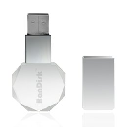 Wholesale 16 Gb Flash Drives - HanDisk Metal polygon Transparent Flash Drive 128MB 1 2 4 16 32 64 128gb Usb Pen Drive Memory stick Portable Hard Drive EU076