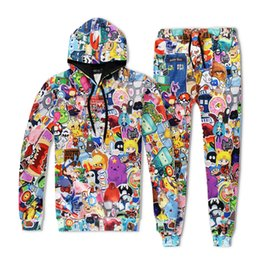 Wholesale Adventure Clothing - 3D digital printing Europe and the United States men loose jacket sweater large time adventure baseball clothing wholesale