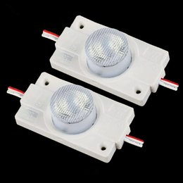 Wholesale Led Lights For Sign Boxes - New 2W High Power LED Injection Module Light With Lens DC 12V Sidelight LED Modules For LED Sign Light Box LED Channel Letters