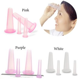 Wholesale Vacuum Massage Face - 4PCS Facial Massage Cupping Cup Vacuum Cellulite Cupping Cup Body Treatment Therapy Face Health Care Treatment Home Use Purple