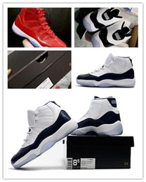 Nike Air Jordan Retro Shoes 2017 moda Concord 11s Win Like 96 all'ingrosso Space Jam 11 UNC Midnight Blu scuro bianco nero Gym rosso con scatola Scarpe da basket da