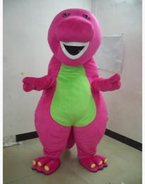 vestido de dinossauro adulto Desconto Frete grátis Profissão Barney Dinossauro Trajes Da Mascote Dos Desenhos Animados do Dia Das Bruxas Adulto Tamanho do Vestido Extravagante
