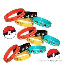 Wholesale Pikachu Jewelry - Poke Pikachu Bracelets Charmander Squirtle Kids Women Men Wristband Silicone Bracelet Wristbands Fashion Accessories jewelry gifts 2016