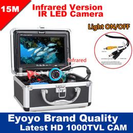 "Wholesale Underwater Monitoring - Wholesale-Eyoyo Original 15M Professional Fish Finder Underwater Fishing Video Camera 7"" Color HD Monitor 1000TVL HD CAM Lights ON OFF"