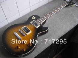 Wholesale Slash Sunburst - Standard Slash Appetite Tobacco Sunburst Flame Maple Top Electric Guitar Mahogany Body Black Back China Guitar Factory Outlet OEM Guitar