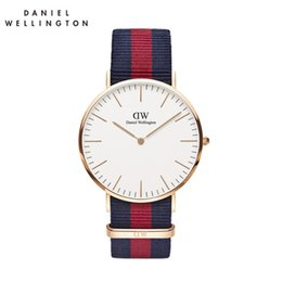 Wholesale Watches For Womens - reloj mujer 2017 Daniel watch womens red Nylon belt Student sports watch for men fashion quartz watches free shipping reloj hombre