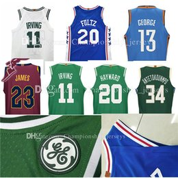 Wholesale Ball Dryer - 2017-18 new #11 Kyrie Irving 20 Gordon Hayward jersey george Chris Paul Tatum Antetokounmpo Harden Booker Jackson ball Jersey