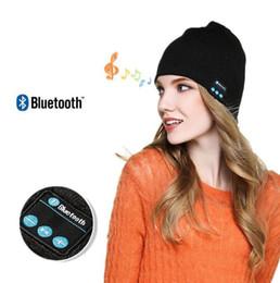 Borsa beanie online-Bluetooth Music Beanie Hat Wireless Smart Cap Headset Headphone Speaker Microphone Handsfree Music Hat OPP Bag Package 200pcs OOA2979