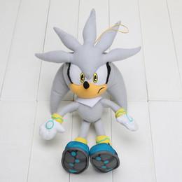 Brinquedo macio sônico on-line-Frete grátis Plush Toys 32 cm cinza Sonic The Hedgehog Boneca de Pelúcia Macia Stuffed Figura Boneca Caçoa o Presente