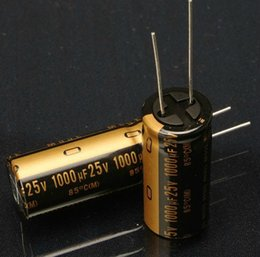 Wholesale Nichicon Audio Capacitors - Wholesale- New original Japanese nichicon 25V 1000UF audio electrolytic capacitor KZ 1000Uf 25V capacitor 16*235.5mm