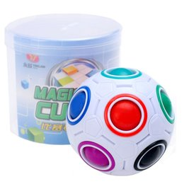 Wholesale Children Game - NEWEST Rainbow Ball Magic Cube Speed Football Fun Creative Spherical Puzzles Kids Educational Learning Toys games for Children Gifts b1257