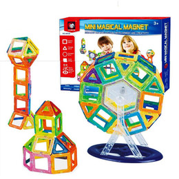 Wholesale Magnetic Toys For Kids Building - BD Toys 58pcs Mini Magnetic Block Set Designer Construction Model & Building Toy Plastic Educational Toys For Kids Gift