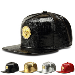 Wholesale Golden Maps - High Quality Star Wear Brand South Africa Map Silver Golden Metal New Men Hip Hop Hat Baseball Caps Casual Snapback 4 Colors