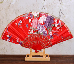 "Wholesale Lace Hand Fans Wholesale - Wedding Ladies Hand Fans Advertising and Promotional Folding Fans 7"" Dancing Lace Fan Bridal Accessories Guest Gift"