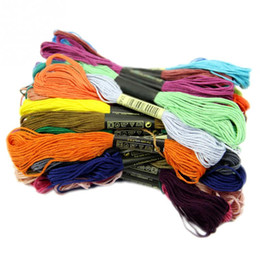 Wholesale Embroideries Cushion - 50pcs Anchor Cross Stitch Cotton Embroidery Thread Floss Sewing Skeins Craft