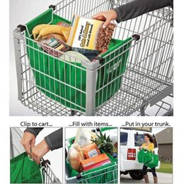 Wholesale Christmas Groceries - Fashion Grocery Grab Shopping Bag Foldable Tote Eco-friendly Reusable Large Trolley Supermarket Large Capacity Bags