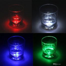 Wholesale Led Mat Lighting - Light Up Led Flashing Bottle 3M Sticker Cup Mug Coaster Cup mat For Holiday Party Party Bar Clubs