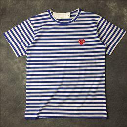 Wholesale Love Print Long Sleeve Shirt - 2017 HOT SALE Summer men's love stripes cotton men and women short-sleeved round neck T-shirt