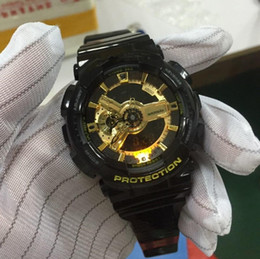 Wholesale Pointer Quartz - 2017 All pointer work New Original Colors Mens Casual G Sport Watches Led Waterproof Lady S Shock GA110 Watch with Box.