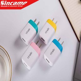 Wholesale Wall Charger Iphone 4s Flat - 5V Full 2A Color Flat Wall Charger AC Power Adapter Home Charger Battery Chargers For Cellphone Iphone 4S 5S SE 6S Galax