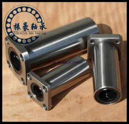 Wholesale Linear Bearing Wholesale - Wholesale- 2Pcs Lot LMK10LUU 10mm Square Flange Type Linear Motion Bearing Bushing Ball Bearing CNC Parts Brand New