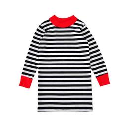 Mädchen westlichen kleidung online-Western Girls Boutique Kleidung Langarm gestreiften Mädchen Kleid Herbst Baumwolle Mädchen Kleidung Kleid Outfit 2-6Y