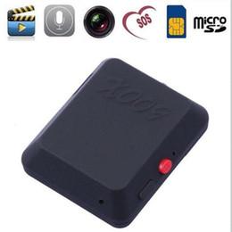 Wholesale Remote Spy Camera Monitor - New Mini GPS locator x009 hidden spy camera Voice Callback remote tracker anti-lost Remote Tracker Tracking Device mini Monitor with SMS SOS