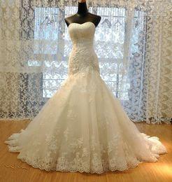 abito bianco musulmano Sconti Vestito Vestido de Noiva Sereia Abiti da sposa con applique maniche Backless sirena di nozze a buon mercato lungo abito da sposa