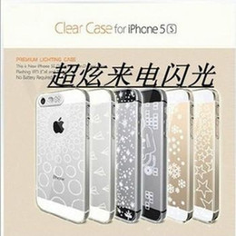 Wholesale Hard Shell Glow - (Clear stock) NEW Multi Colors For Apple iphone 4 4S phone case Flash LED Lightning phone shell Glow Hard Cover Luminous free shipping