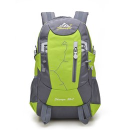Wholesale Mountaineering Bag Backpack - 2016 New Waterproof Nylon Hiking Backpack Outdoor Sports Bag Rucksack Mountaineering Bag Men's Travel Bags Back pack