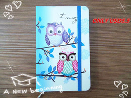 Wholesale Kraft Paper Note Book - Wholesale- New style Fashion Cute Charming Mini Portable owl hard cover Paper Diary Notebook school Memo Note Book notepad free shipping