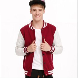 Wholesale Cardigans Fast Shipping - Fashion Patchwork Spring And Autumn Baseball Clothing Young Casual Thin Cardigan Hoodie And Fleece Thick Hoodie Fast Shipping