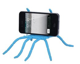 Araña de teléfono celular online-Soporte universal de araña Soporte para coche para teléfonos móviles Teléfonos celulares Android Accesorios Soporte Soporte para teléfono móvil